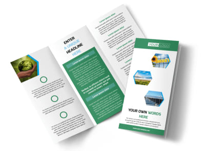 Green Energy Technology Tri-Fold Brochure Template
