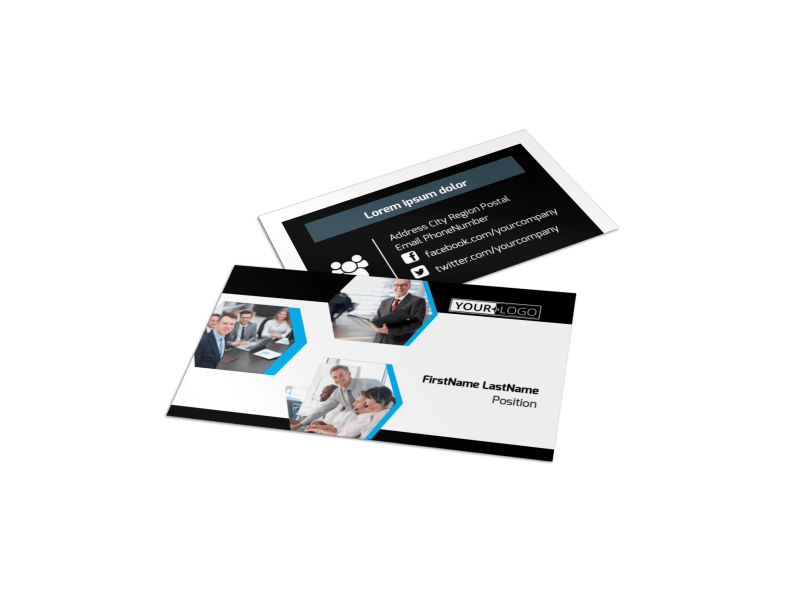 Elite Business Consulting Business Card Template Preview 1