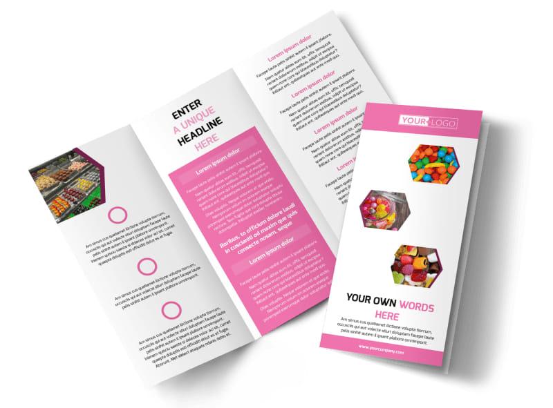 Candy Shop Tri-Fold Brochure Template