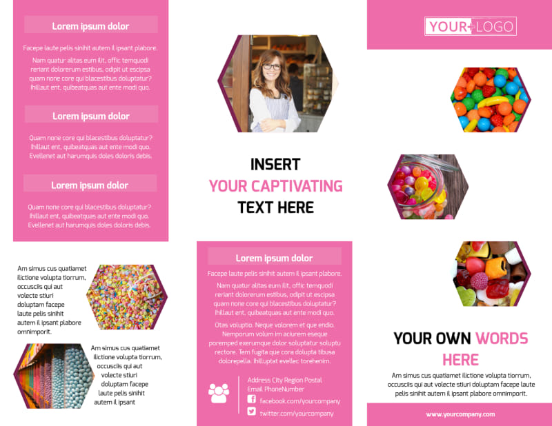 Candy Shop Brochure Template Preview 2