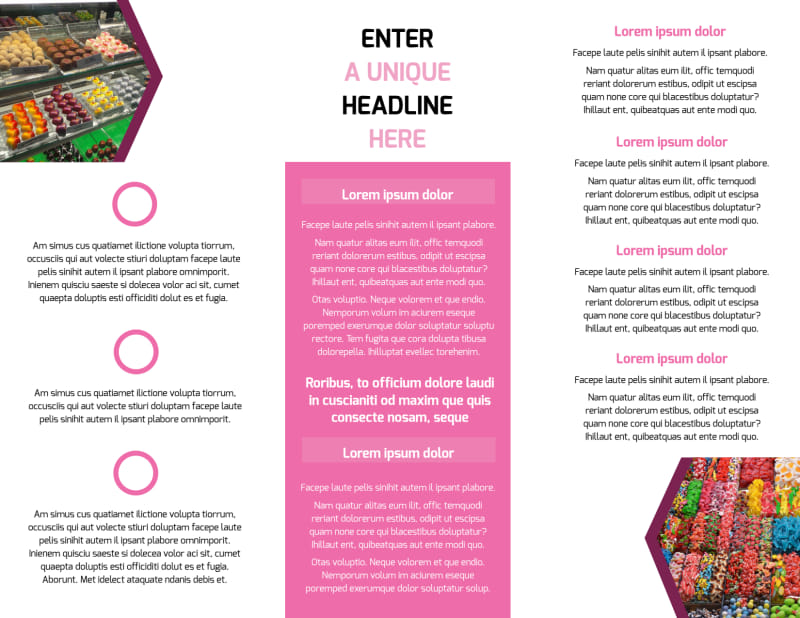 Candy Shop Brochure Template Preview 3