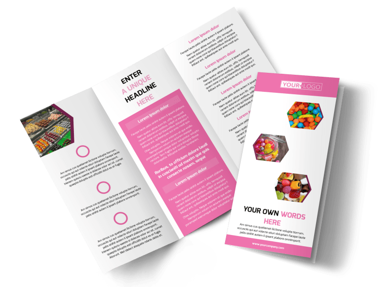 Candy Shop Brochure Template Preview 1