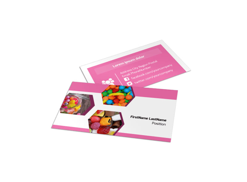 Candy Shop Business Card Template Preview 4