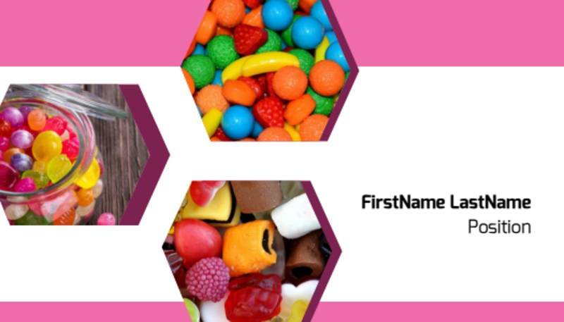 Candy Shop Business Card Template Preview 2