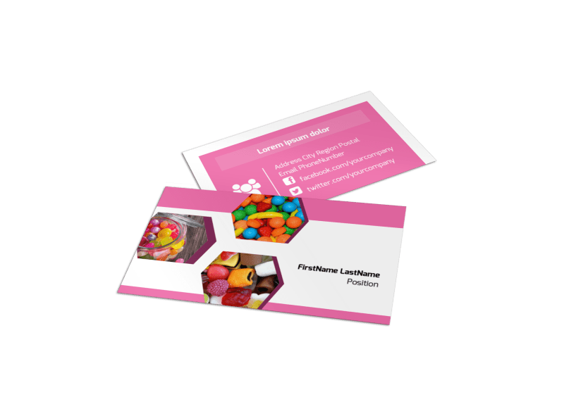 Candy Shop Business Card Template Preview 1