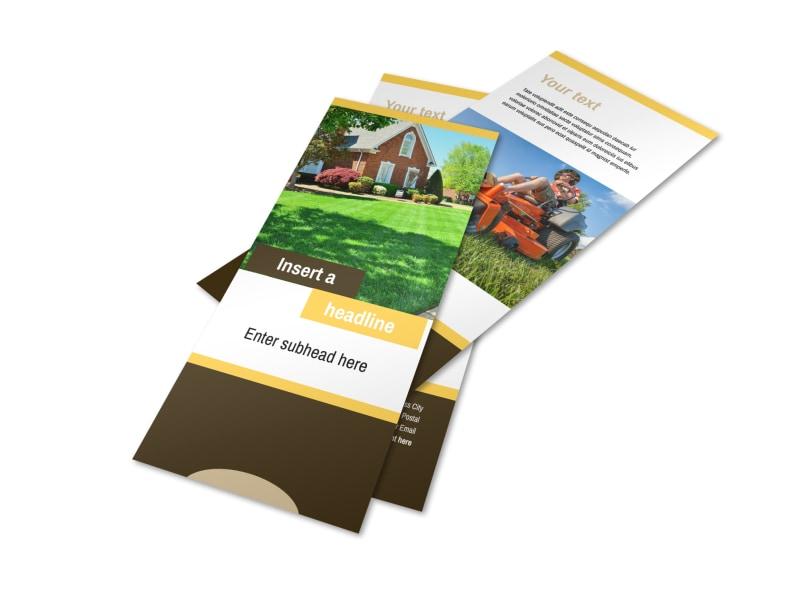 Lawn Maintenance Service Flyer Template 2