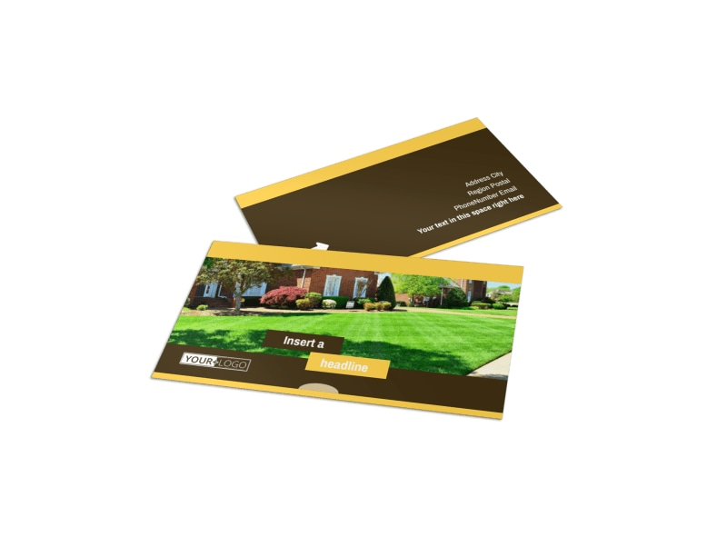 Lawn care business card template mycreativeshop lawn maintenance service business card template friedricerecipe Gallery