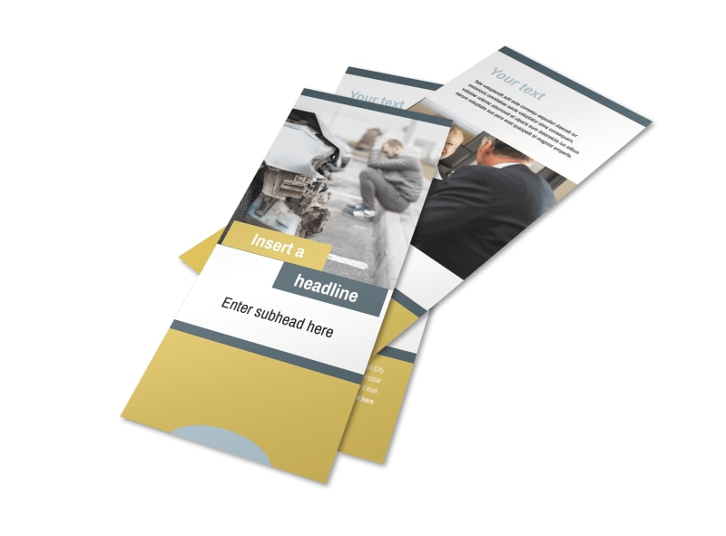 Accident Compensation Lawyer Flyer Template 2