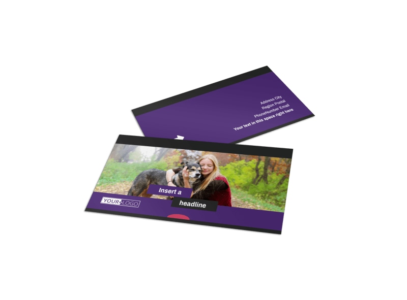 Pet Adoption Business Card Template