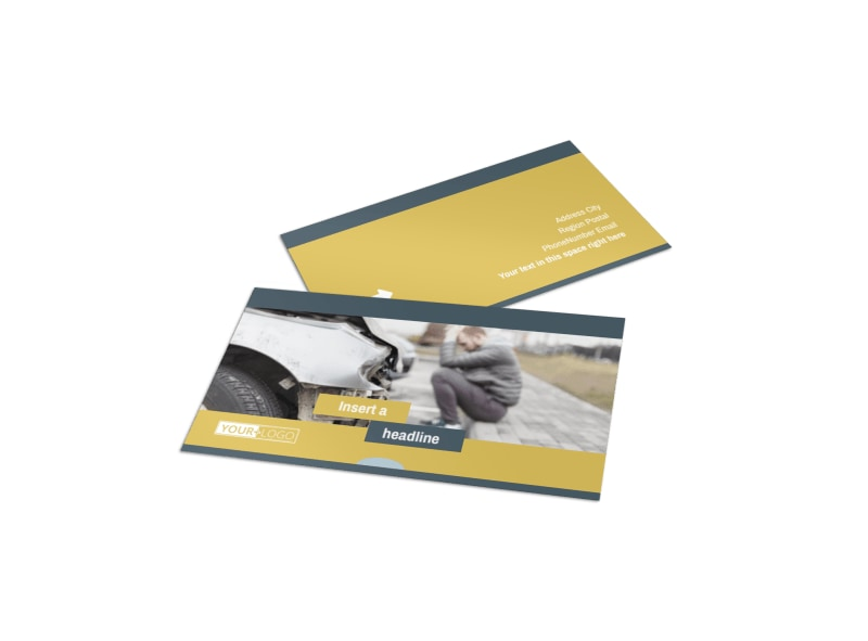 Accident Compensation Lawyer Business Card Template
