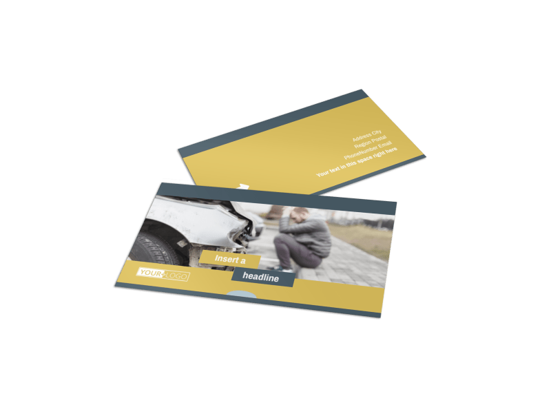 Accident Compensation Lawyer Business Card Template Preview 1