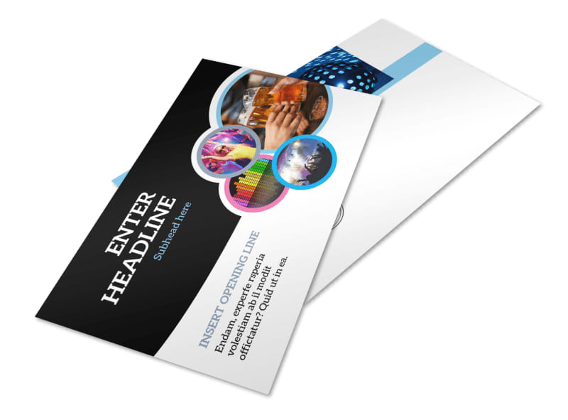 Club Party Postcard Template 2