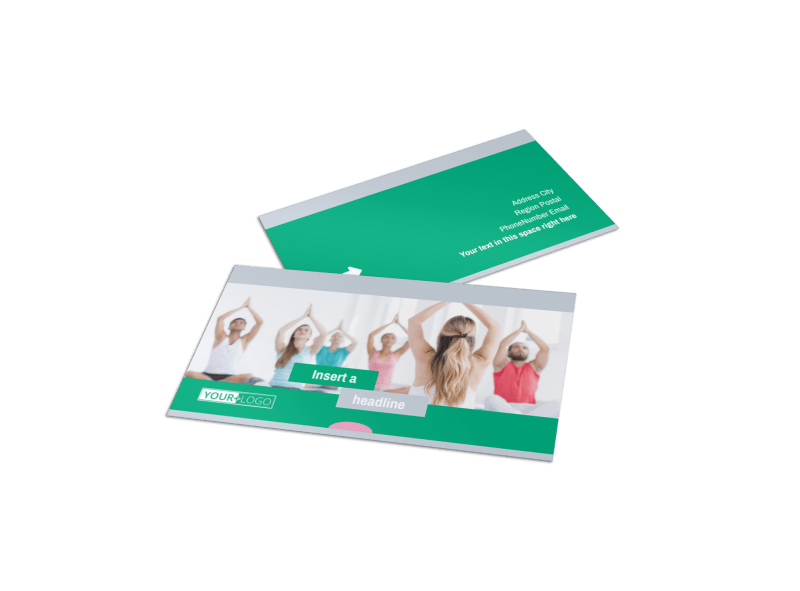 Hot Yoga Class Business Card Template Preview 1