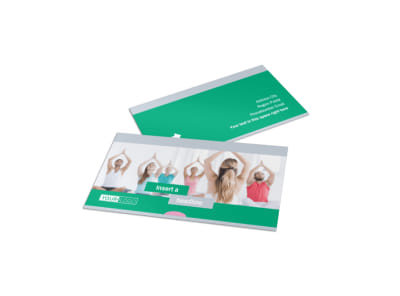 Hot Yoga Class Business Card Template preview