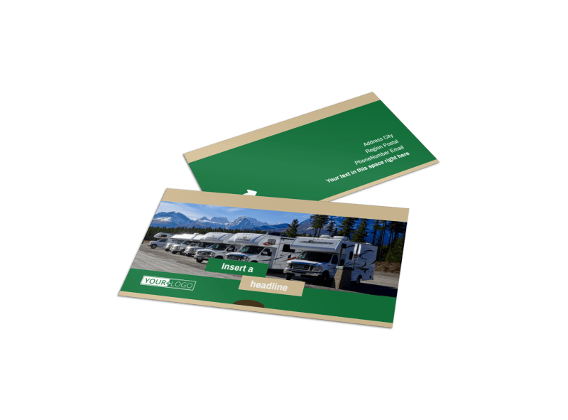 RV Sales Business Card Template Preview 1