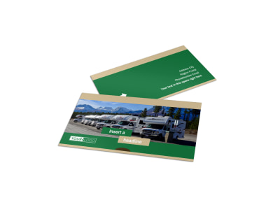 RV Sales Business Card Template preview