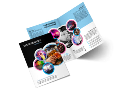 Club Party Bi-Fold Brochure Template 2 preview