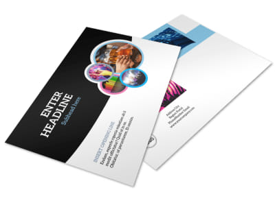 Club Party Postcard Template