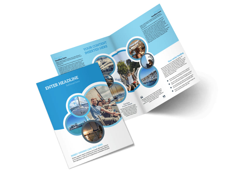Yacht tour brochure template mycreativeshop for One fold brochure template