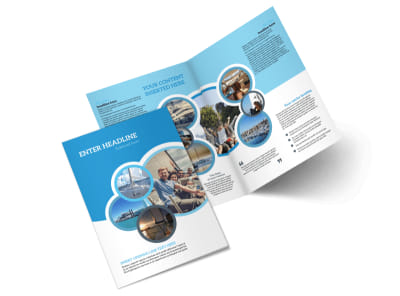 Yacht Tour Bi-Fold Brochure Template 2 preview