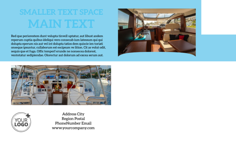 Yacht Tour Postcard Template Preview 3