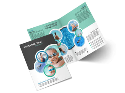 Swimming Tournament Bi-Fold Brochure Template 2