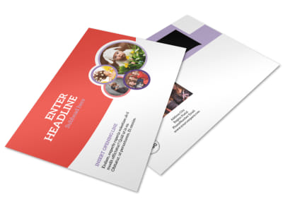 Costume Rental Postcard Template preview