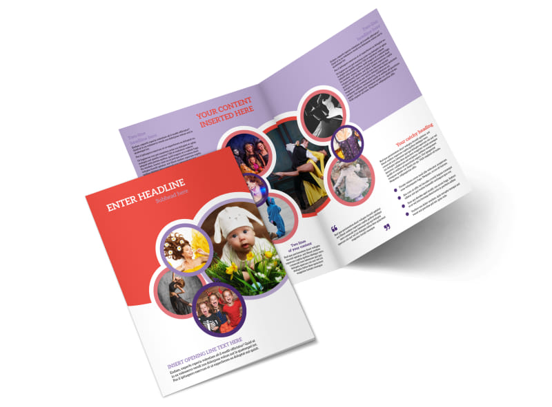 Costume Rental Bi-Fold Brochure Template 2