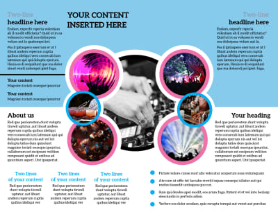 Club Party Brochure Template Preview 2