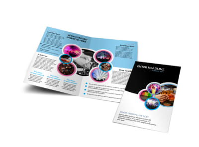 Club Party Bi-Fold Brochure Template