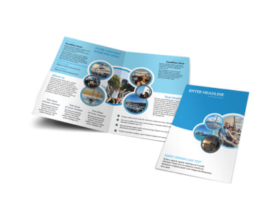 Yacht Tour Bi-Fold Brochure Template preview