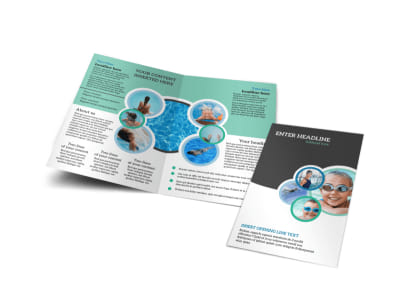 Swimming Tournament Bi-Fold Brochure Template