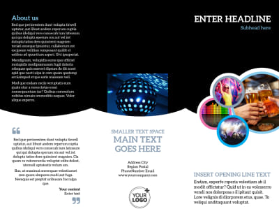 Club Party Brochure Template Preview 1