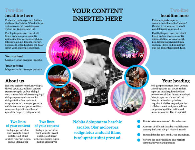 Club Party Brochure Template Preview 3