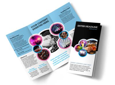 Club Party Tri-Fold Brochure Template preview