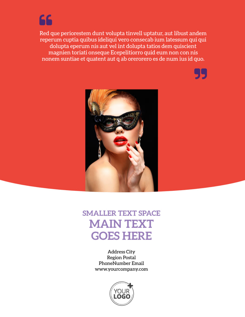 Costume Rental Flyer Template Preview 3