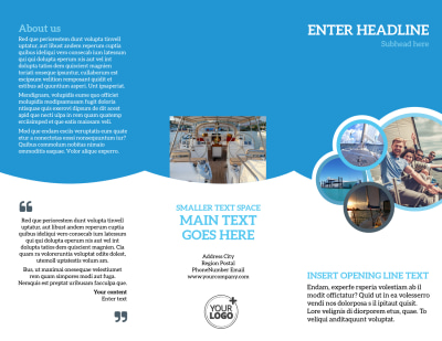 Yacht Tour Brochure Template Preview 1