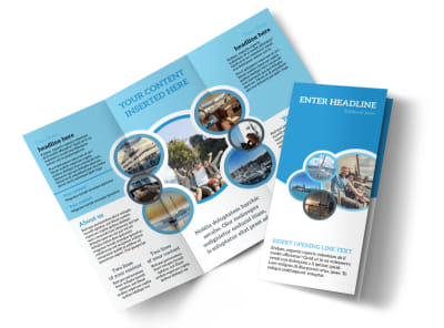 Yacht Tour Tri-Fold Brochure Template