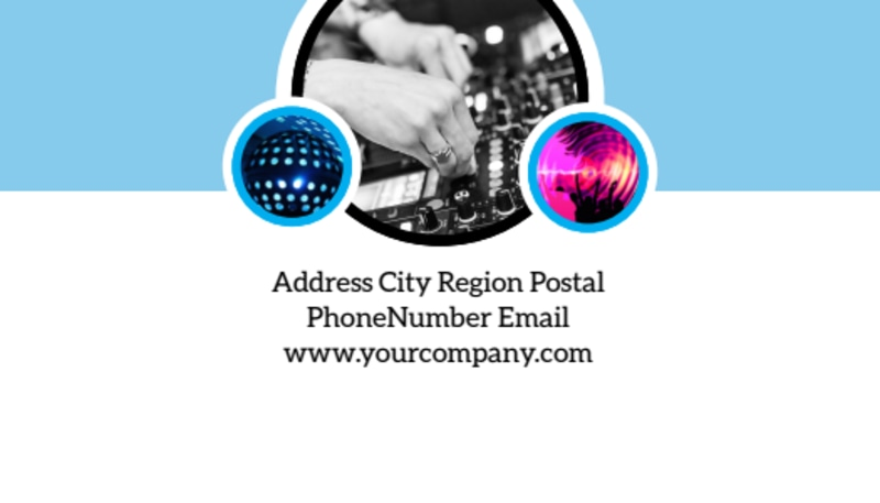 Club Party Business Card Template Preview 3