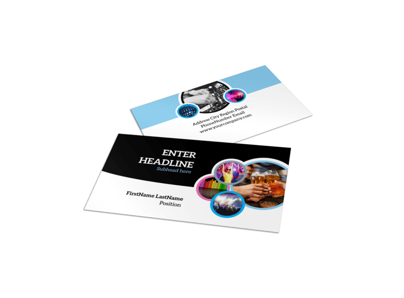 Club Party Business Card Template Preview 1