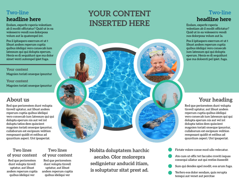 Swimming Tournament Brochure Template Preview 3