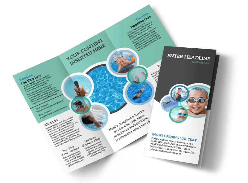 Swimming Tournament Brochure Template Preview 1