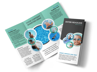 Swimming Tournament Tri-Fold Brochure Template