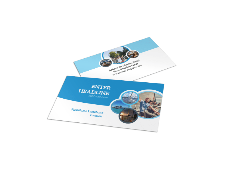 Yacht Tour Business Card Template Preview 1