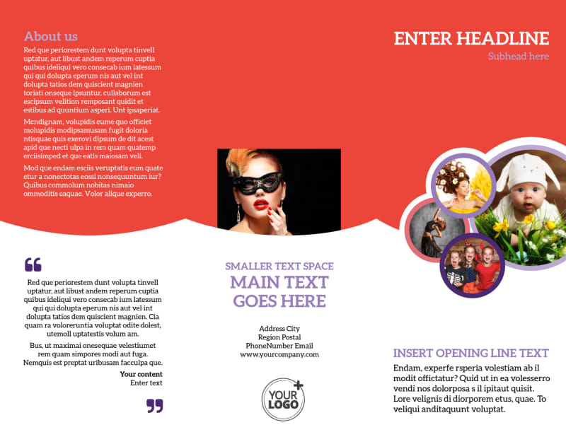 Costume Rental Brochure Template Preview 2