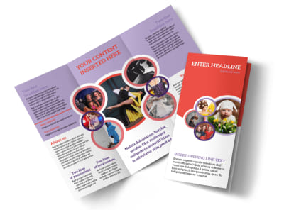 Costume Rental Tri-Fold Brochure Template preview