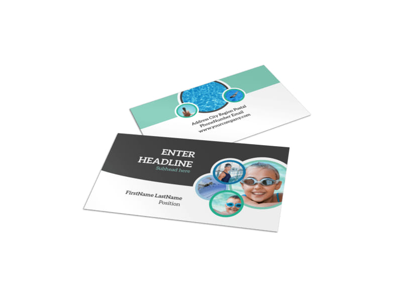Swimming Tournament Business Card Template