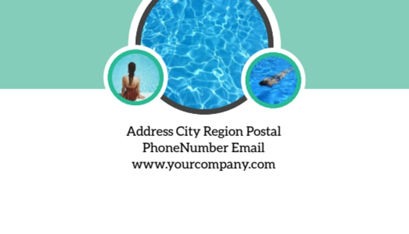 Swimming Tournament Business Card Template Preview 3