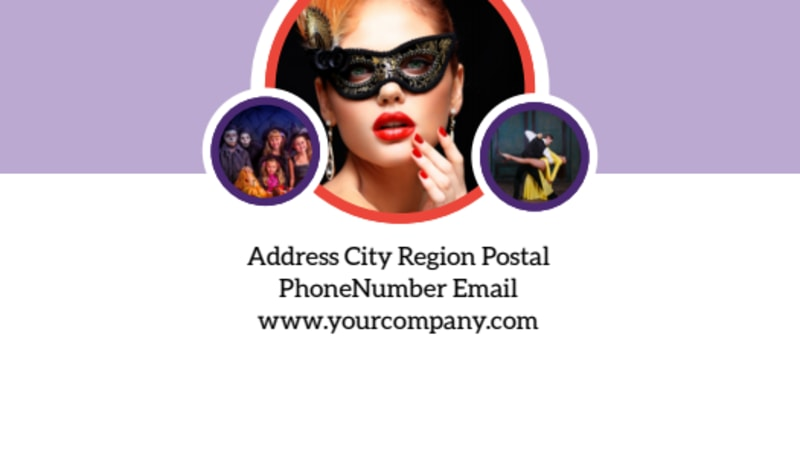 Costume Rental Business Card Template Preview 3