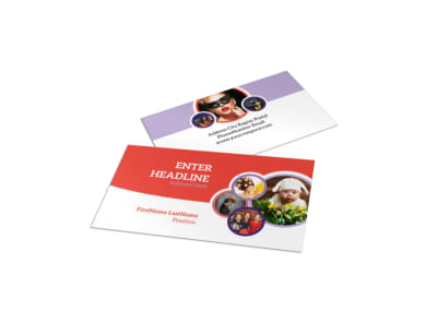 Costume Rental Business Card Template preview